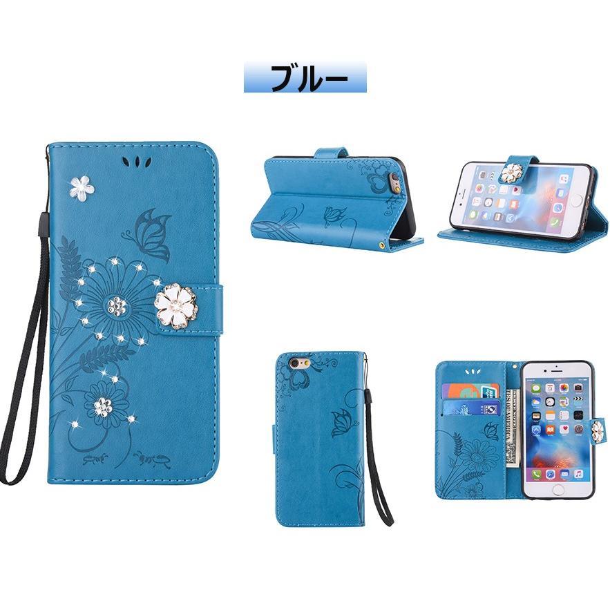 スマホケース 携帯ケース  iPhone6s iPhone7 iPhone 8 Plus ケース 手帳型 花柄 iPhone 11 X XR Xs Max SE2ケース  アイフォン6s Plus キラキラ 可愛い initial-k 20