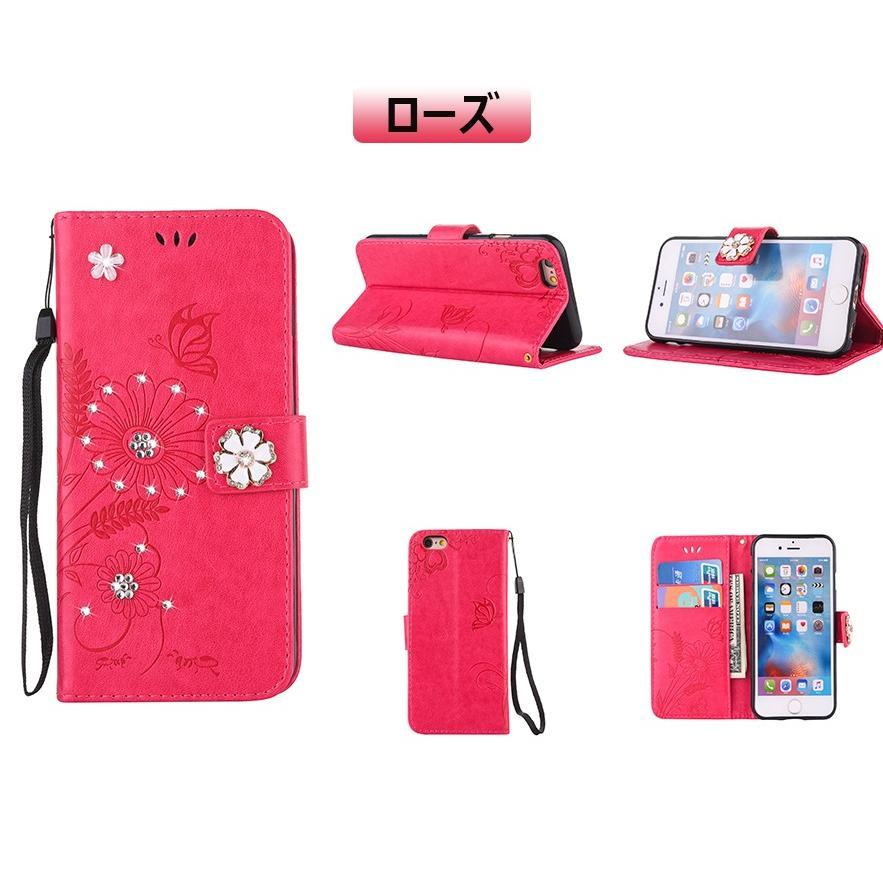 スマホケース 携帯ケース  iPhone6s iPhone7 iPhone 8 Plus ケース 手帳型 花柄 iPhone 11 X XR Xs Max SE2ケース  アイフォン6s Plus キラキラ 可愛い initial-k 21
