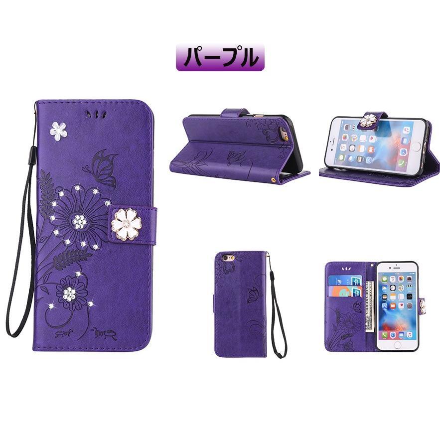 スマホケース 携帯ケース  iPhone6s iPhone7 iPhone 8 Plus ケース 手帳型 花柄 iPhone 11 X XR Xs Max SE2ケース  アイフォン6s Plus キラキラ 可愛い initial-k 23