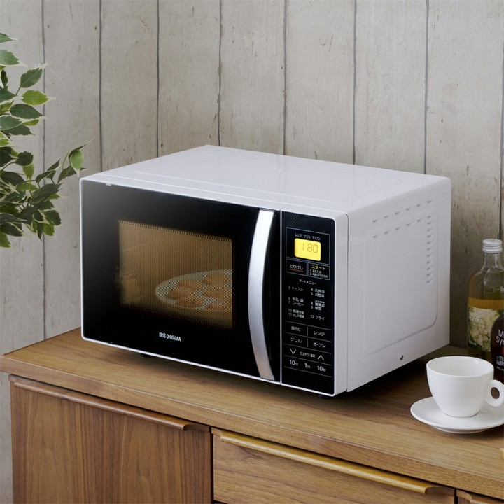レンジオーブン家電ターンテーブル台所キッチン解凍オートメニューヘルツフリーあたため簡単共用調理家電タイマートースト簡単操作オーブンレンジホワイトMO-T1601アイリスオーヤマ
