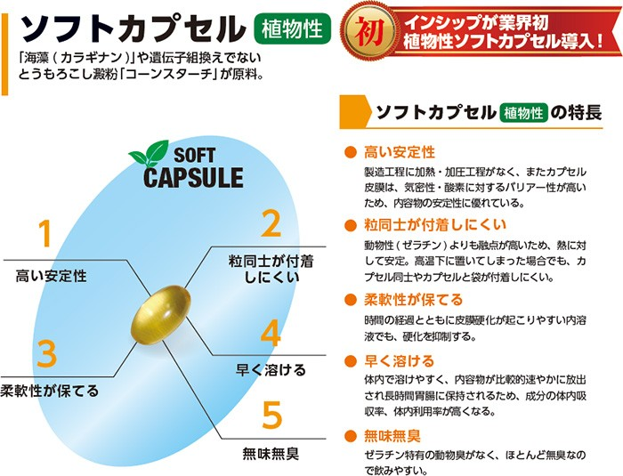 インシップの植物性カプセル
