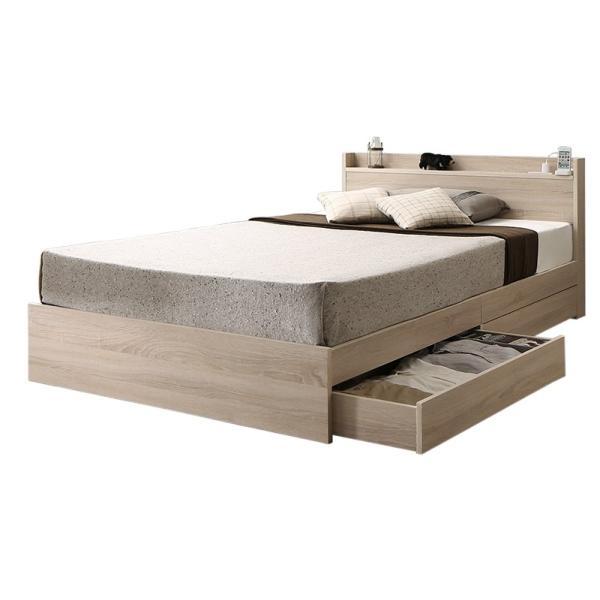 ベッド マットレス付き 収納付き ベッドフレーム 収納ベッド ベット マットレスセット コンセント付き シングルベッド ボンネルコイル ポケットコイル 送料無料|intelogue|21