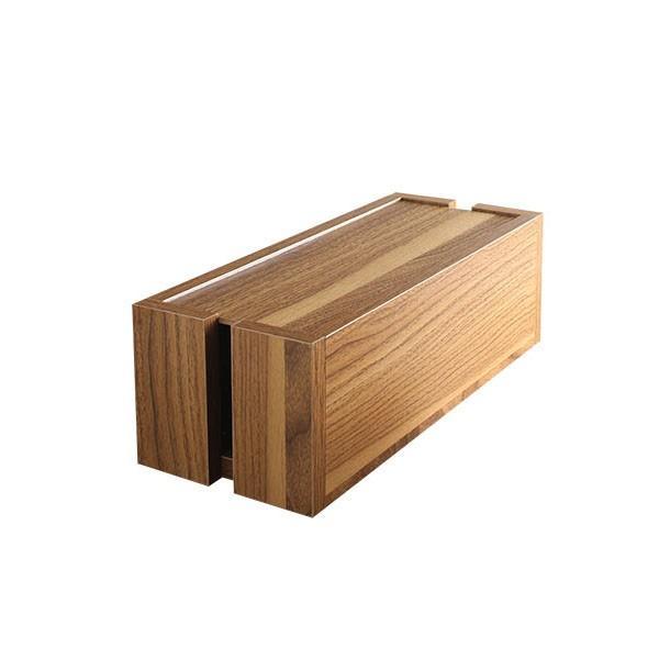 ケーブルボックス おすすめ 木製ケーブルボックス 収納 木 木製 大 大型 電源タップ おしゃれ スリム ルーター コード コンセント収納ボックス intelogue 22