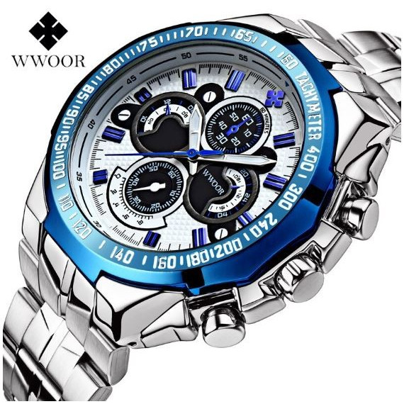 腕時計 メンズ ブランド シルバー ブルー 送料無料 おしゃれ 5気圧防水 WWOOR クオーツ|inter-gallery-fasao|22