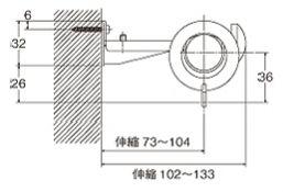 ローレット25木目シングルセット取付寸法図
