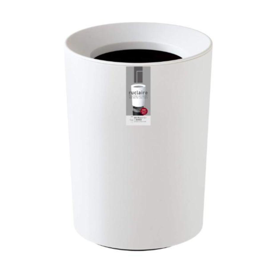 ゴミ箱 2L カバー付き 袋が見えない ごみ箱 ダストボックス 屑入れ 丸型 小さめ 洗面台 卓上 ( ミニ 小さい 丸 スリム フタなし 袋 見えない 2 リットル )|interior-palette|15