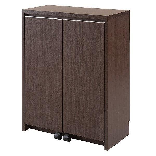 カウンター下収納 キャビネット デスクタイプ キャスター扉 幅60cm ( キッチン収納 リビング 窓下 パソコンデスク ) interior-palette 20
