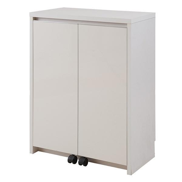 カウンター下収納 キャビネット デスクタイプ キャスター扉 幅60cm ( キッチン収納 リビング 窓下 パソコンデスク ) interior-palette 19