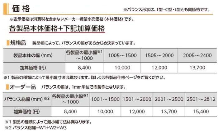 オプション バランス 価格 オーダー 規格品