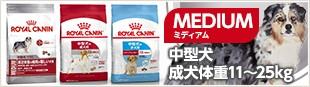 MEDIUM ミディアム 中型犬 成犬体重11〜25kg