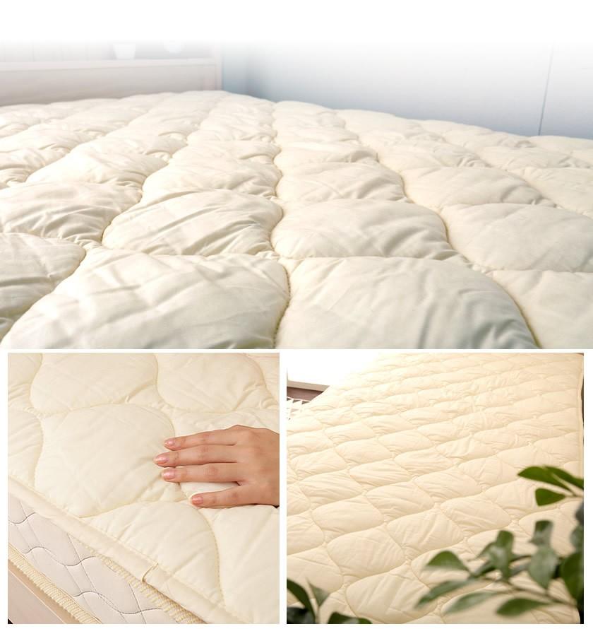 側生地はコットン100% ベッドパッド