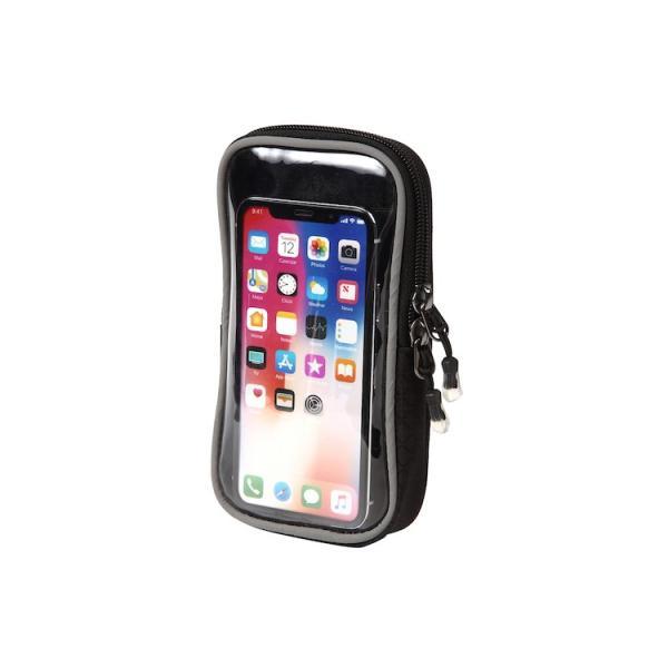 アウトドアポーチ スマホポーチ 入れたまま カラビナ付き リュック 取り付け ベルトケース タッチパネル対応 スマートフォン|iphone-smart|16