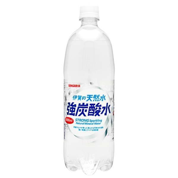 水 ペットボトル 1000ml 1L 24本 伊賀の天然水 強炭酸水 サンガリア (D)|irisplaza|02