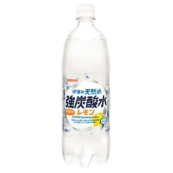水 ペットボトル 1000ml 1L 24本 伊賀の天然水 強炭酸水 サンガリア (D)|irisplaza|03