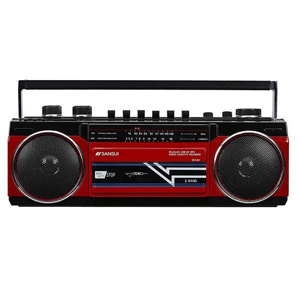 ラジカセ レトロ ステレオラジオカセット Bluetooth スピーカー ラジオカセット カセットテープ ブルートゥース MP3 SDカード 対応 SANSUI SCR-B2|iristopmart123|06