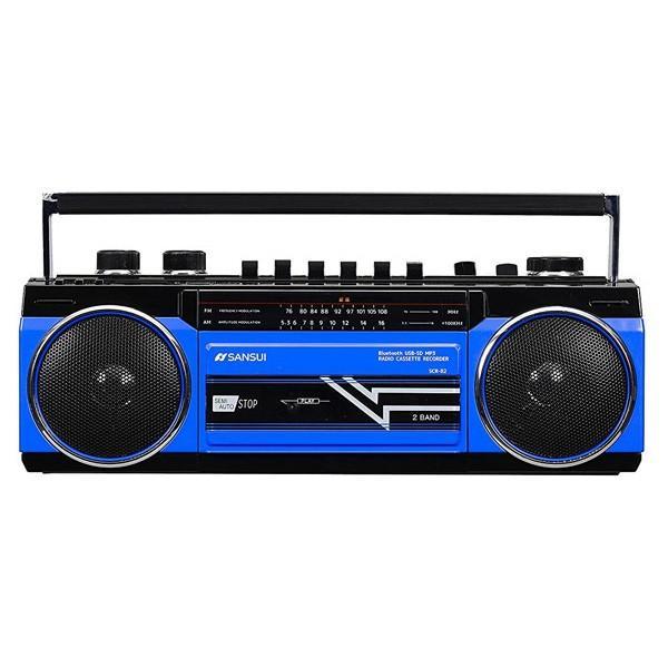 ラジカセ レトロ ステレオラジオカセット Bluetooth スピーカー ラジオカセット カセットテープ ブルートゥース MP3 SDカード 対応 SANSUI SCR-B2|iristopmart123|07