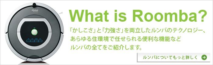 What is Roomba?|「かしこさ」と「力強さ」を両立したルンバのテクノロジー、あらゆる住環境で任せられる便利な昨日などルンバの全てをご紹介します。|ルンバについてもっと詳しく→