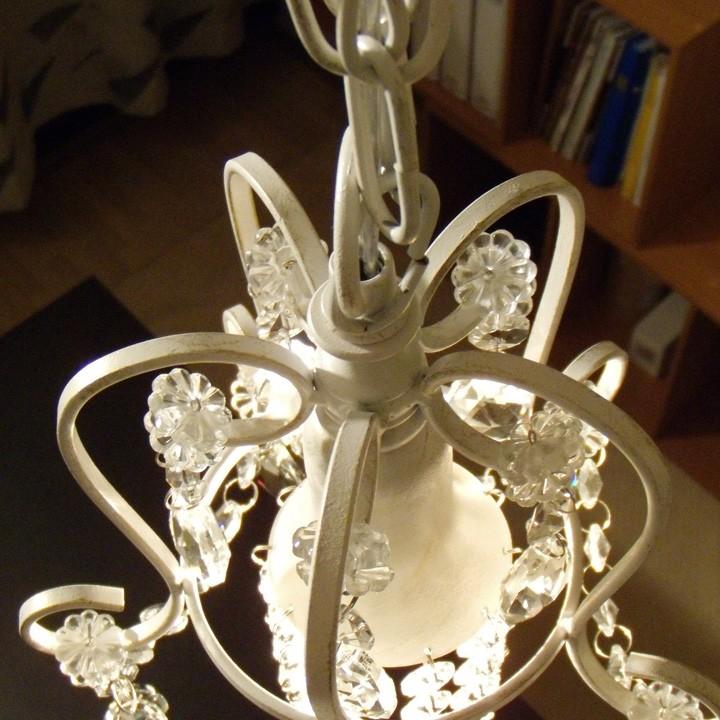 ガラスプチシャンデリア 1灯 ホワイト