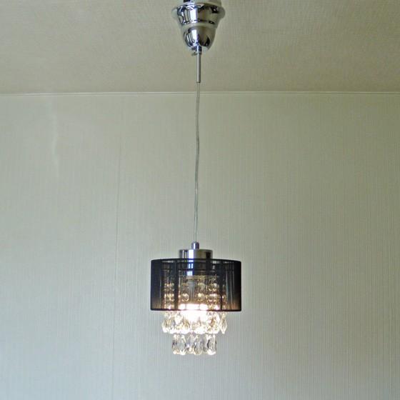 1灯 プチミニシャンデリア ペンダントランプ ブラック 284BK