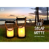 DI CLASSE LED Solar lantern Notte ディクラッセ ソーラーランタン ノッテ LA5391BK LA5392BK
