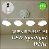 LEDスポットライト ホワイト 調光 調色 リモコン おしゃれ シンプル 省エネ エコ LEDspotlight ISWLED-4011