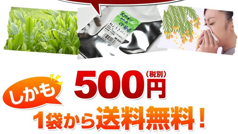 ワンコイン500円ポッキリ!しかも1袋から送料無料