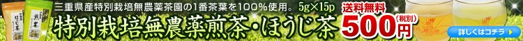 特別栽培無農薬茶パック送料無料