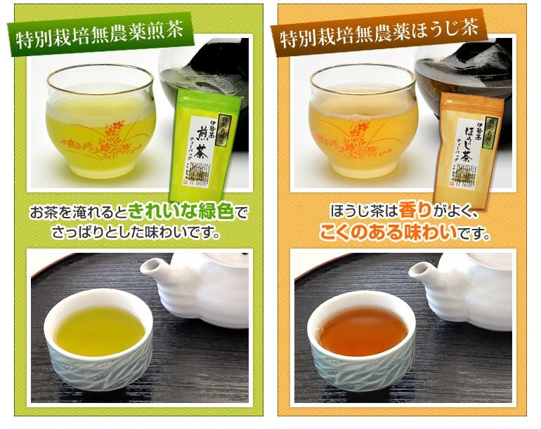 特別栽培無農薬煎茶・特別栽培無農薬ほうじ茶