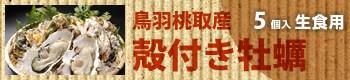 鳥羽桃取産 殻付き牡蠣/5個入(生食用)