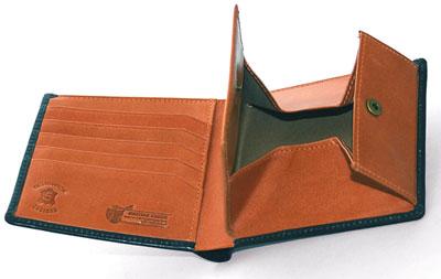 ダブルブライドルレザー財布内装