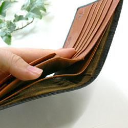 ダブルブライドルレザー財布札入れ2ヵ所