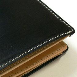 ブライドルレザー長財布ブラック