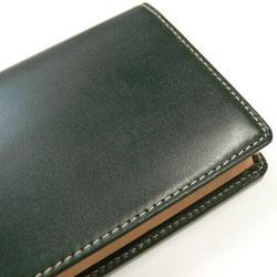 ブライドルレザー長財布表面