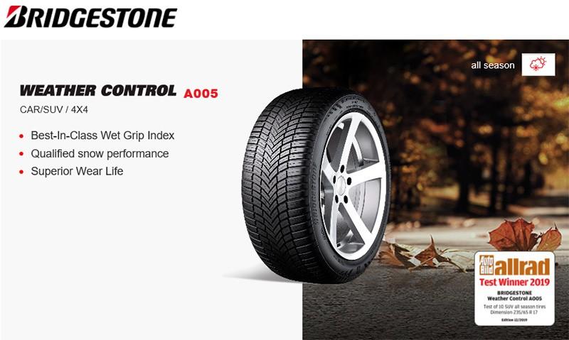 175//65R15 88H Bridgestone A005 Weather Control XL M+S All-Season Tire