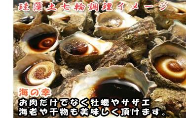 珪藻土七輪 海の幸 調理イメージ