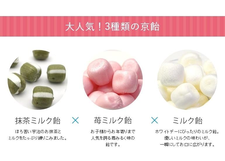 抹茶ミルク・ミルク・苺みるく