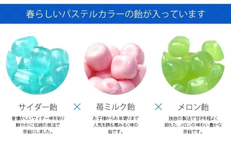 サイダー・苺ミルク・メロン