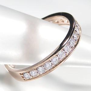 商品画像2 K18PG【0.5ct】ダイヤモンド ハーフエタニティ リング