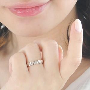 商品画像3 K18PG【0.5ct】ダイヤモンド ハーフエタニティ リング