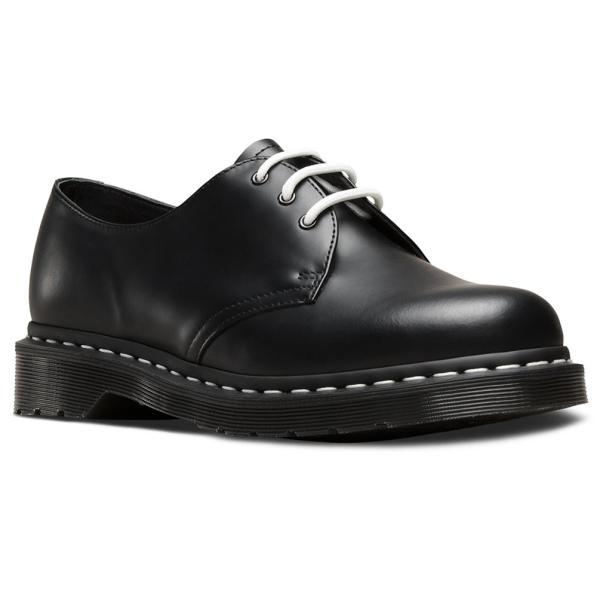 Dr.Martens ドクターマーチン 1461 ホワイトウェルト 3ホール レザー シューズ 白ステッチ 本革 革靴 替え紐付き 1461WS 24757001 BLACK SMOOTH|j-pia|14