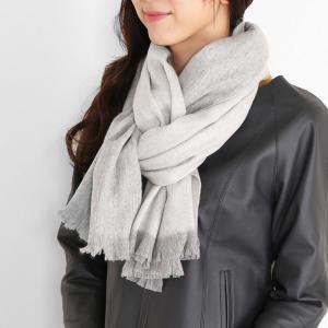 カシミヤ 100% ストール バイカラー リバーシブル デザイン レディース 大判 マフラー サックス/ライラック/グレー(02000285r) 『ギフト』|sankyo shokai-三京商会