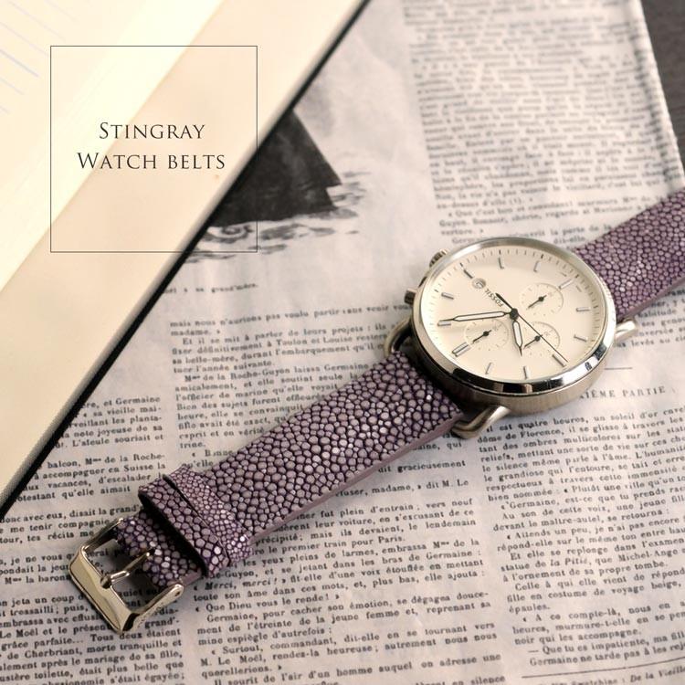 リザード トカゲ 爬虫類 本革 腕時計 ベルト 取り付け用 防水
