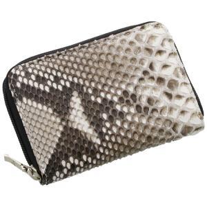 ダイヤモンド パイソン コインケース レディース ラウンド ファスナー 軽量 ミニ 財布 一枚革 全5色(No.06001311)[ネコポスで送料無料]|sankyo shokai-三京商会