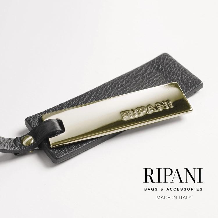 [RIPANI] リパーニ 牛革 トート バッグ イタリア製  レディース ブラック