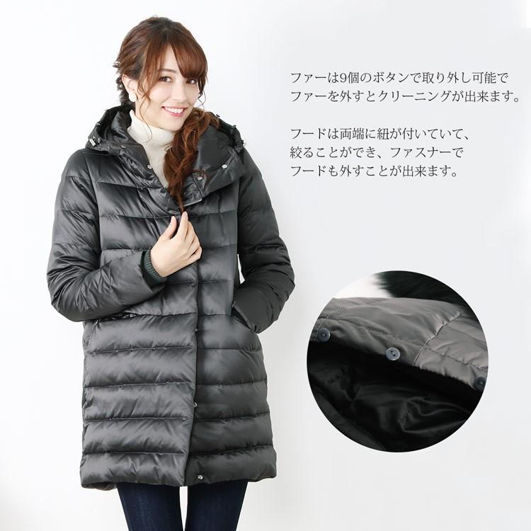 防寒性を重視 だけどフェミニンなデザイン