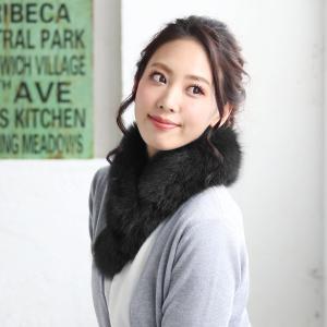ファーマフラー ティペット SAGA フォックス ファー マフラー カラー チョーカー 毛皮 レディース|sankyo shokai-三京商会