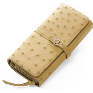 オーストリッチ 長財布 レディース 多機能 財布 かぶせ カードが沢山入る 本革 フラップ 使い易い(9411r) 『ギフト』|sankyo shokai-三京商会