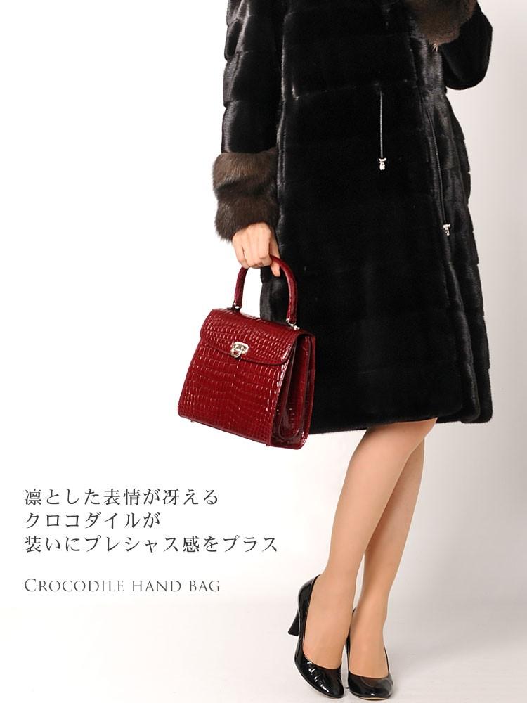 クロコダイル ハンドバッグ 日本製
