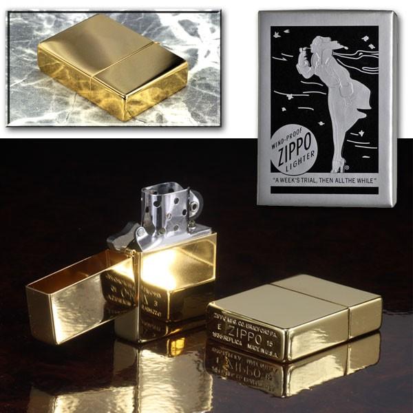 zippo(ジッポーライター)1935レプリカ 当店限定 ゴールドプレーティング(シリアルナンバー入り) 画像5