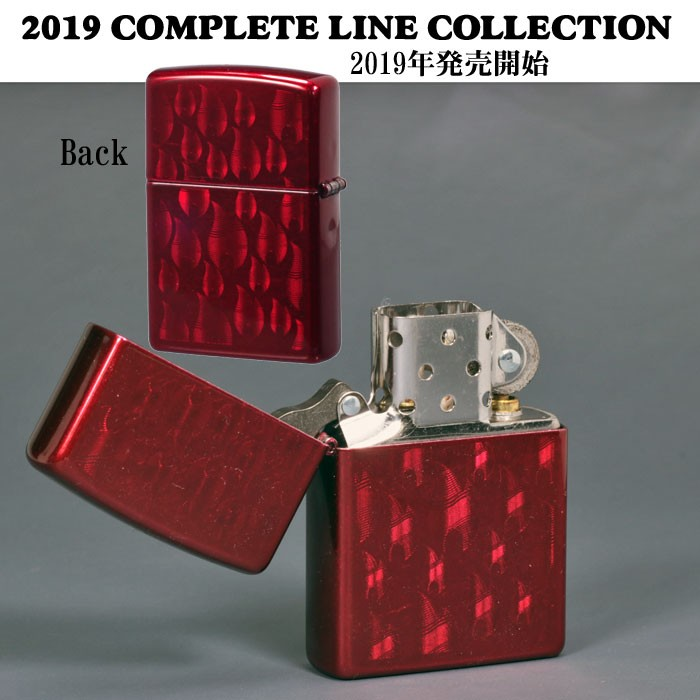 ZIPPO/Iced Flame Candy Apple Red  #29824  両面同柄画像3